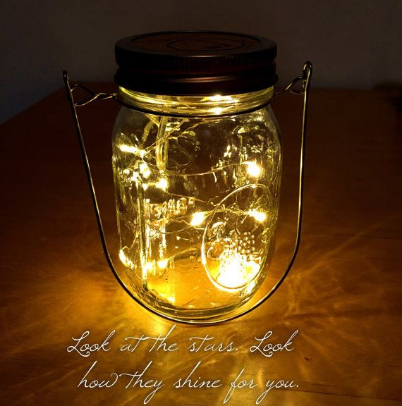 Gold Hanger Firefly Lights with Mason Jar Lantern, Wedding Lights, Hanging lantern, wedding lanterns, rustic lanterns, Wedding centerpieces
