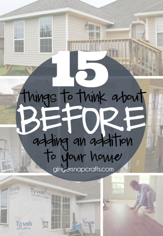 15 Things To Think About Before Adding An Addition To Your Home At  GingerSnapCrafts.com Part 77