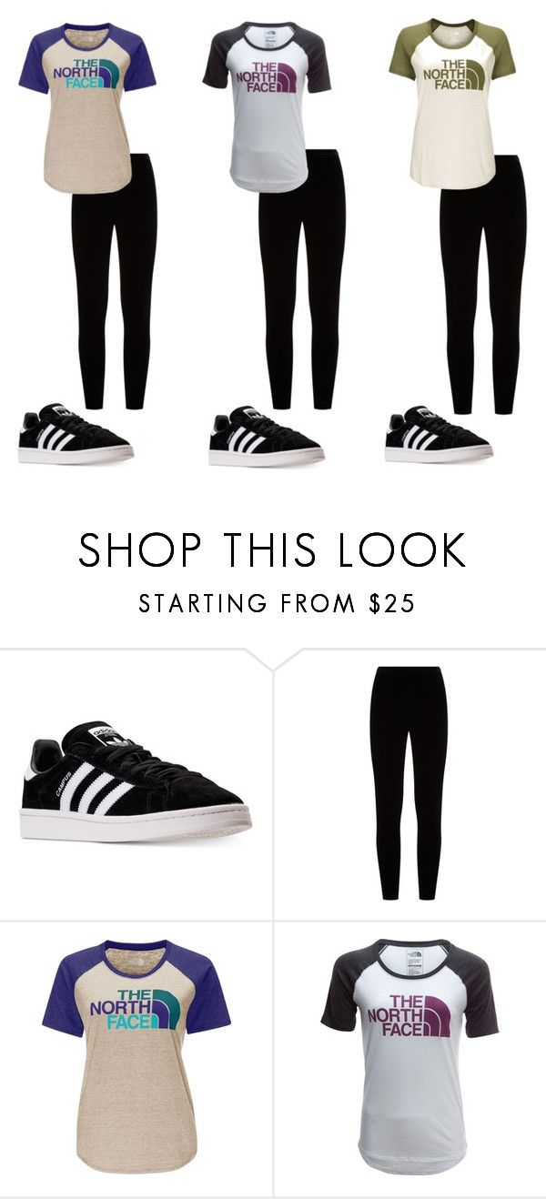 """3 North Face Outfits"" by awesome-banana-17 ❤ liked on Polyvore featuring adidas, Eileen Fisher and The North Face"