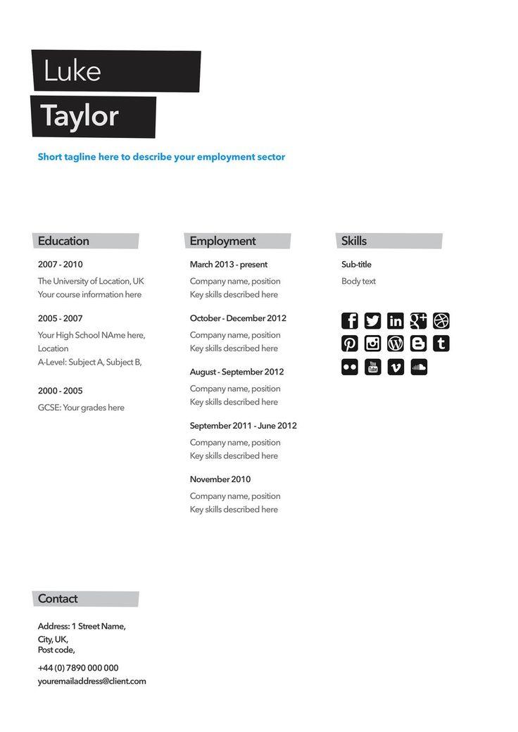 82 best Template Cv Infografica Gratis images on Pinterest - impressive resume