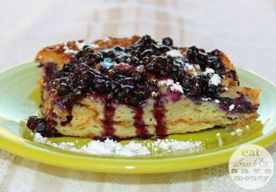 Wild Blueberry Croissant French Toast Casserole by Hannah Rinaldi