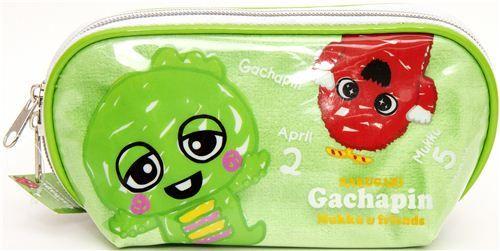 green Gachapin pencil case green monster & friends