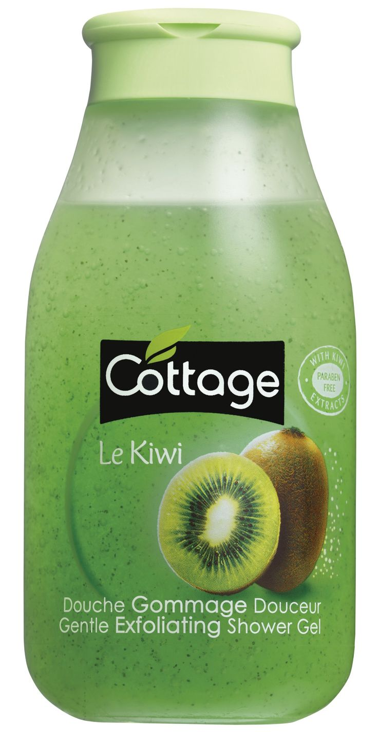 Cottage - Douche Gommage Douceur - Le Kiwi - 250 ml - Lot de 3