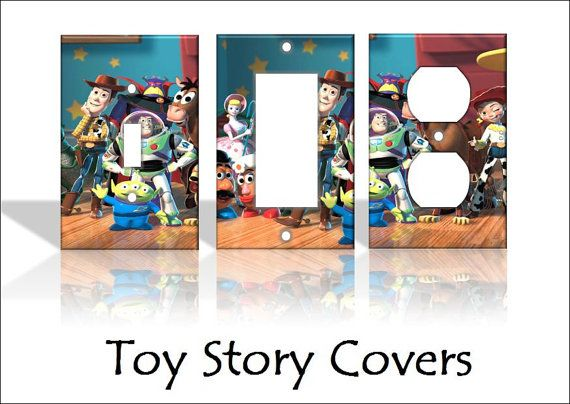 Toy Story Disney Light Switch Covers Wallplates Switchplates Home Decor Outlet 14 STYLES AVAILABLE-Can make these
