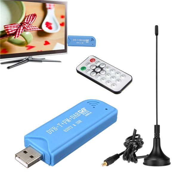USB 2.0 Digital DVB-T SDR DAB FM HDTV TV Tuner Receiver Stick With Antenna Remote Control For Windows XP    Description:    USB 2.0 DVB-T TV Stick adopts the latest digital audio-video multimedia processing chipset, supports DVB-T digital TV signal receiving. It is fully compatible with ultra-portable plug-and-play USB 2.0 DVB-T receiver,easy to install and use. Digital reception provides sharp TV pictures and near-CD quality audio and radio. There are even time-shifting and ch...