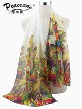 Peacesky SW125 Ücretsiz Kargo 2015 Yeni Sıcak Satış Plaj Şal Şifon Eşarp kadın Moda Tüy Baskı Ipek Marka Atkı(China (Mainland))