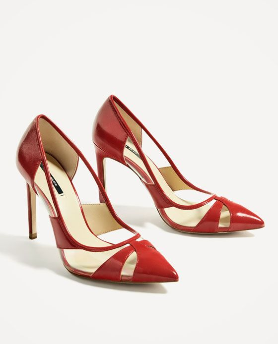 Image 3 of VINYL RED COURT SHOE from Zara