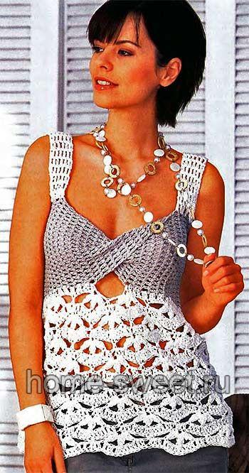 Túnica de crochet elegante com diagrama: Elegant Crochet, Hook, Crochet Tunics Ideas, Crochet Summer, En Crochet, Crochet 1, Crochet Tank, Lace Patterns, Crochet Clothing
