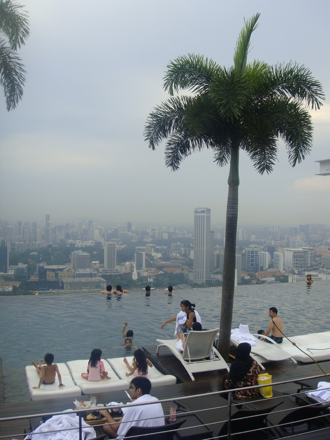 19 best images about marina bay sand on pinterest singapore 200m and pools for Tallest swimming pool in the world