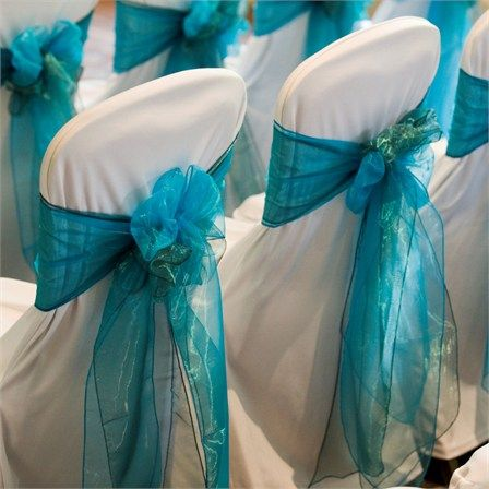 This would be a pretty ribbon color for the chair covers at our wedding reception.