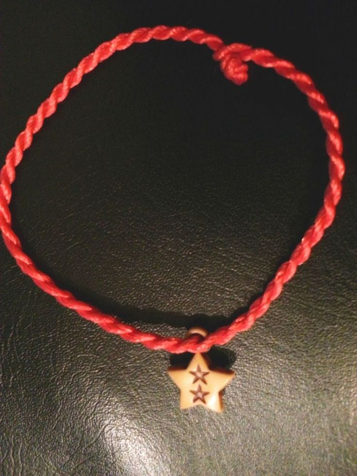RED KABBALAH STRING BRACELET WITH GOOD LUCK STAR , EVIL EYE LUCKY JEWELRY