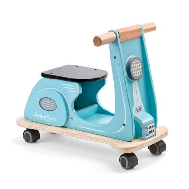 Scooter Ride-On - We love this ride on toy in a retro blue colour! It also won a Junior Magazine Design Award 2012. http://www.gltc.co.uk/scooter-ride-on/gltc/fcp-product/10002493