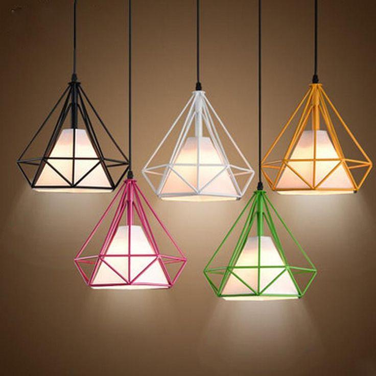 Vintage Diamond Shaped Pendant Light (LED Bulb Available)