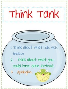 This can be put in a time out area. The student will have this to look at when they have made poor choices. ...