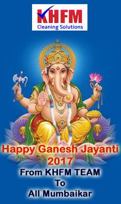 Best wishes for Maghi Ganesh Jayanti 2017 To all mumbaikar From KHFM Cleaning Services Best wishes for Maghi Ganesh Jayanti 2017 To all mumbaikar From #KHFMCleaningServicesInMumbai  Start your Home Deep Cleaning Just Rs.5175 with affordable charges. http://khfm.co.in/full-house-deep-cleaning/  #HomeDeepCleaning #Lowcost #Homecleaningservicesinmumbai