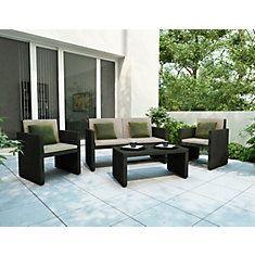 Creekside 4-Piece Patio Lounge Set