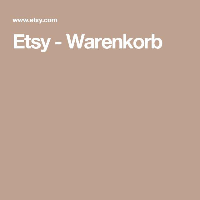 Etsy - Warenkorb