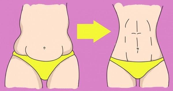 To nie jest ćwiczenie i nie dieta!  Płaski brzuch za pomocą jednego niesamowite techniki ...