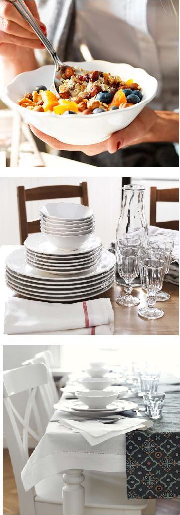You can buy a dinnerware set or mix and match plates based on your preferences. & 78 best Dinnerwear images on Pinterest | Dishes Ikea oftast and ...
