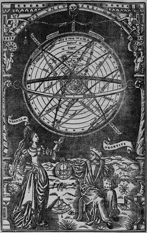 """chaosophia218: """"Oronce Fine - Urania, """"De Mundi Sphaera ..."""