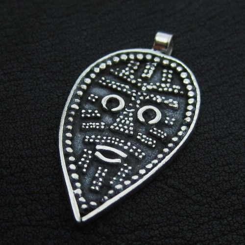 Silver Viking Face pendant from The Sunken City by DaWanda.com
