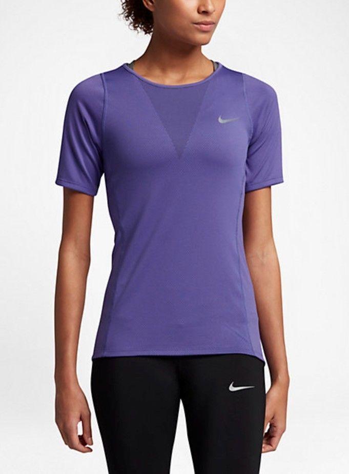 Nike Zonal Cooling Relay Running Top Womens Xs Dark Iris Retail