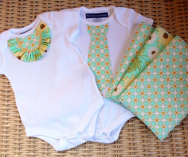 Baby Onesie TutorialSewing, Baby Shower Gift, Baby Gifts, Gift Ideas, Girls Onesies, Twin Outfit, Onesies Tutorials, Diy, Twin Boys