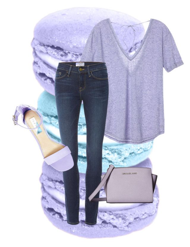 """""""Untitled #7"""" by fatgandalfqwq on Polyvore featuring Victoria's Secret, Frame Denim, Steve Madden and MICHAEL Michael Kors"""