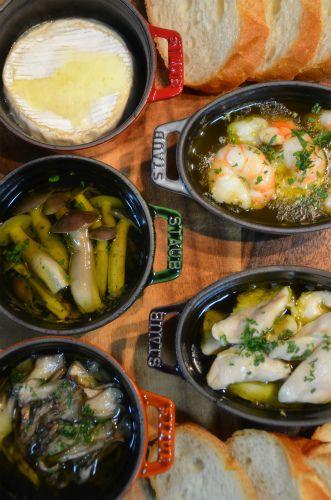 ストウブで「舞茸&丹波しめじのアヒージョと簡単チーズフォンデュ ...