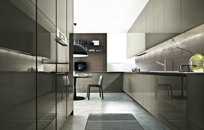 küchen varenna poliform hochglan taupe unterbauleuchten zen