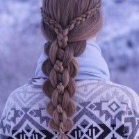 ötágú hajfonat