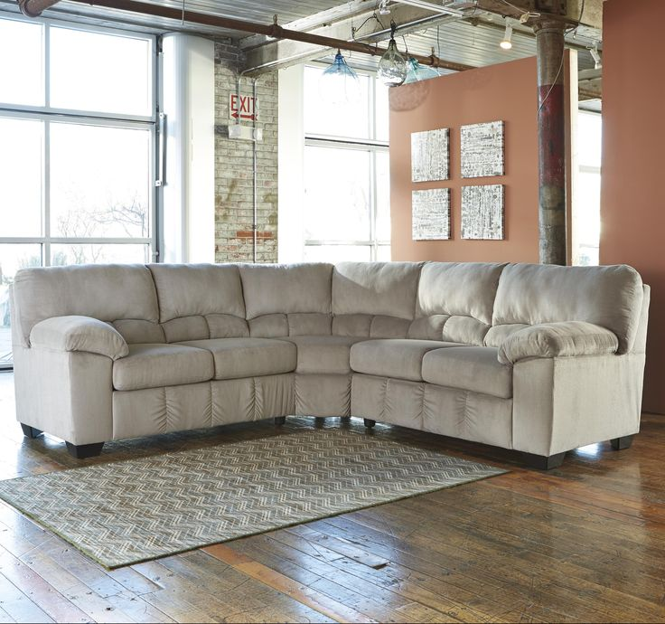 This two piece sectional adds comfortable seating for