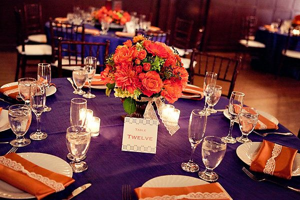 The tabletops were vibrant, romantic, and utterly elegant.  	   	Photo by Dave Richards Photography