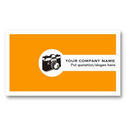 シンプル but キュートなカメラマン名刺。#zazzle #名刺