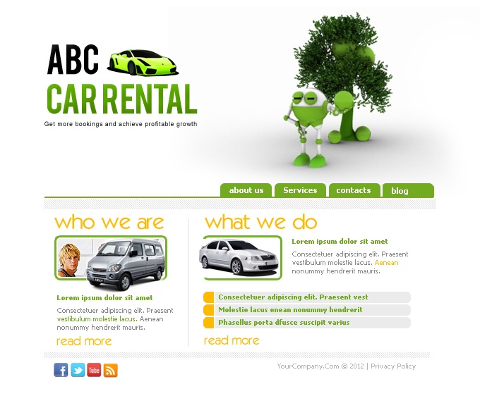 Get the best car rental services website you can possibly imagine. With Virtual Staff Finder, you will be able to find the best web designer and developer who can do an excellent job with your business website.