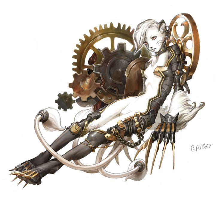 E621 Cat Chain Claws Clock Tower Clockwork Cogs Collar Ear
