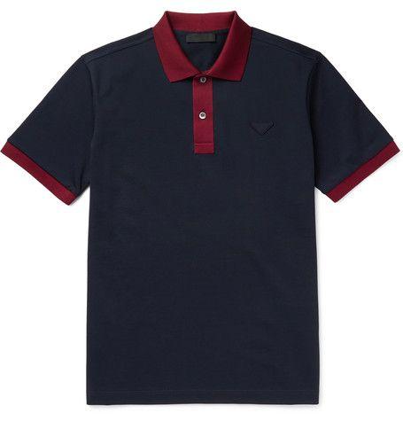 Prada - Cotton-Piqué Polo Shirt