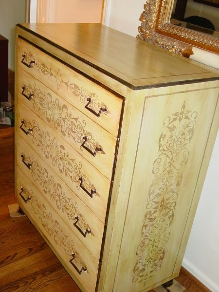 Custom furniture and cabinet painting! www.artandtexture.com