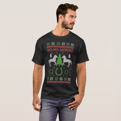 Horse Ugly Christmas Sweater Funny Equestrian - birthday gifts party celebration custom gift ideas diy