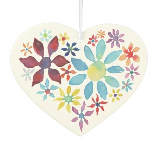 (Air Fresheners) Heart of Flowers Watercolor