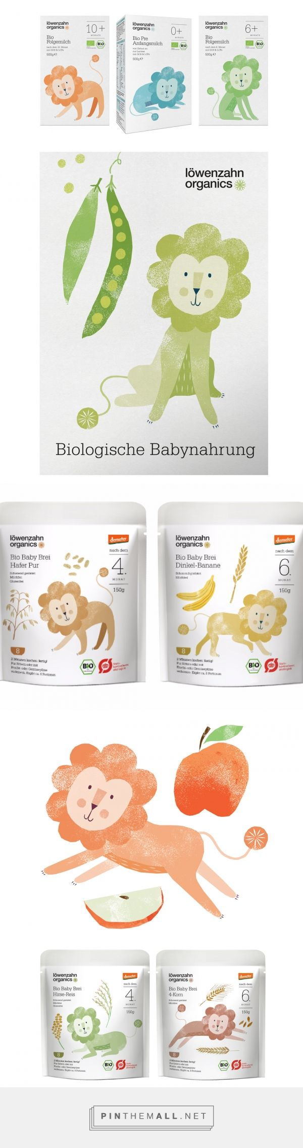 Löwenzahn Organics Baby Food on Packaging of the World - Creative Package Design Gallery - created via https://pinthemall.net