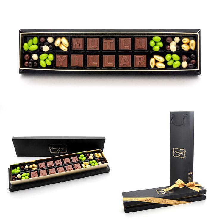 Yılbaşı Hediyeleri :: Mutlu Yıllar Harf Çikolata - Yılbaşı Hediyesi