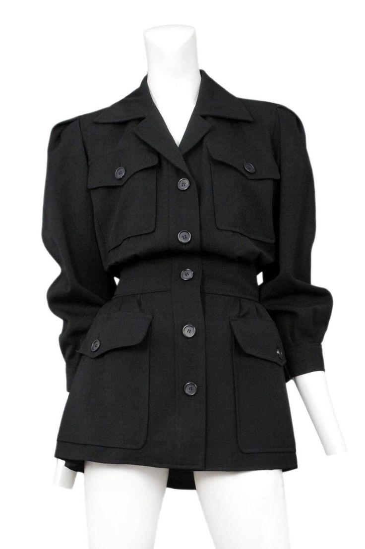 Yves Saint Laurent Black Safari Jacket  2                                                                                                                                                                                 More