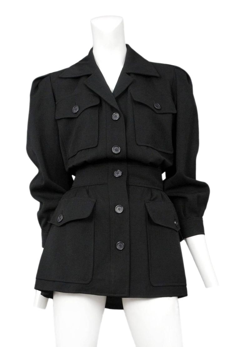 Yves Saint Laurent Black Safari Jacket  2                                                                                                                                                                                 More