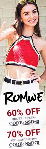 Save 75% off orders $199+ at ROMWE.com with promocode SSD75! Sale ends 7/10 #clothing, #fashion, #knitwear, #dresses, #coats, #tops, #blouses, #kimonos, #shorts, #sweatshirts, #vests, #blazers, #skirts, #jewelry, #shoes, #women's #clothing, #iphone #cases, #sunglasses, #handbags, #scarves, #hats, #boots, #flats, #high #heels, #belts, #pants, #gloves, #jumpsuits, #swimwear, co-ords, #bracelets, #rings, #earrings, #necklaces, #pendants SHOP NOW>> https://goo.gl/xpMuL5