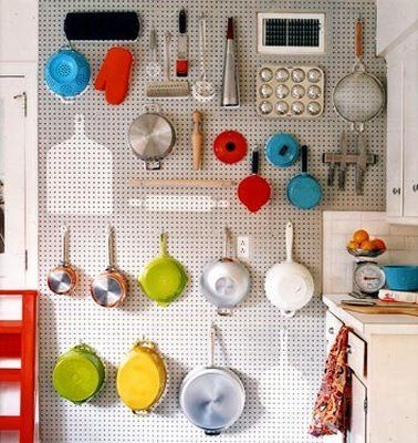 kitchen pegboard by theholidaygirl928, via Flickr