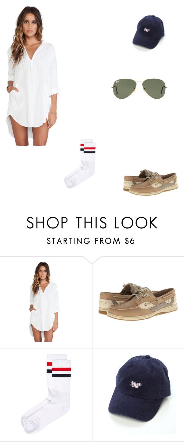 """""""Frat boy Halloween costume this year"""" by geekydancer ❤ liked on Polyvore featuring WithChic, Sperry, River Island and Ray-Ban"""
