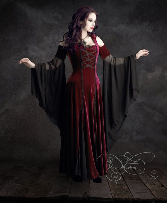 Imaginaerum Fairy Tale Romantic Wedding Dress - Handmade Romantic Gothic Fairy Renaissance Dress in Custom Size or Colors