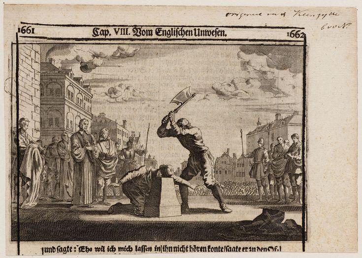 in 1649 werd Karel I onthoofd omdat hij alle standen was tegen gegaan. hij stichte de angilcaanse kerk wat een kruising was tussen het protistantisme en de cristelijkheid en ging daarmee tegen de burgers in die gewoon wilde geloven in de kerk die ze wooden en de geestlijkheid was het er ook niet me eens omdat ze niet meer bij hun kerk mochten blijven. hij ging tegen de adel door ze te onderdrukken en te arresteren gaf hun geen zeggen en hun richten toen de opstand op en