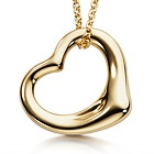 Tiffany & Co. | Item | Elsa Peretti® Open Heart pendant in sterling silver and 18k rose gold, small. | United States